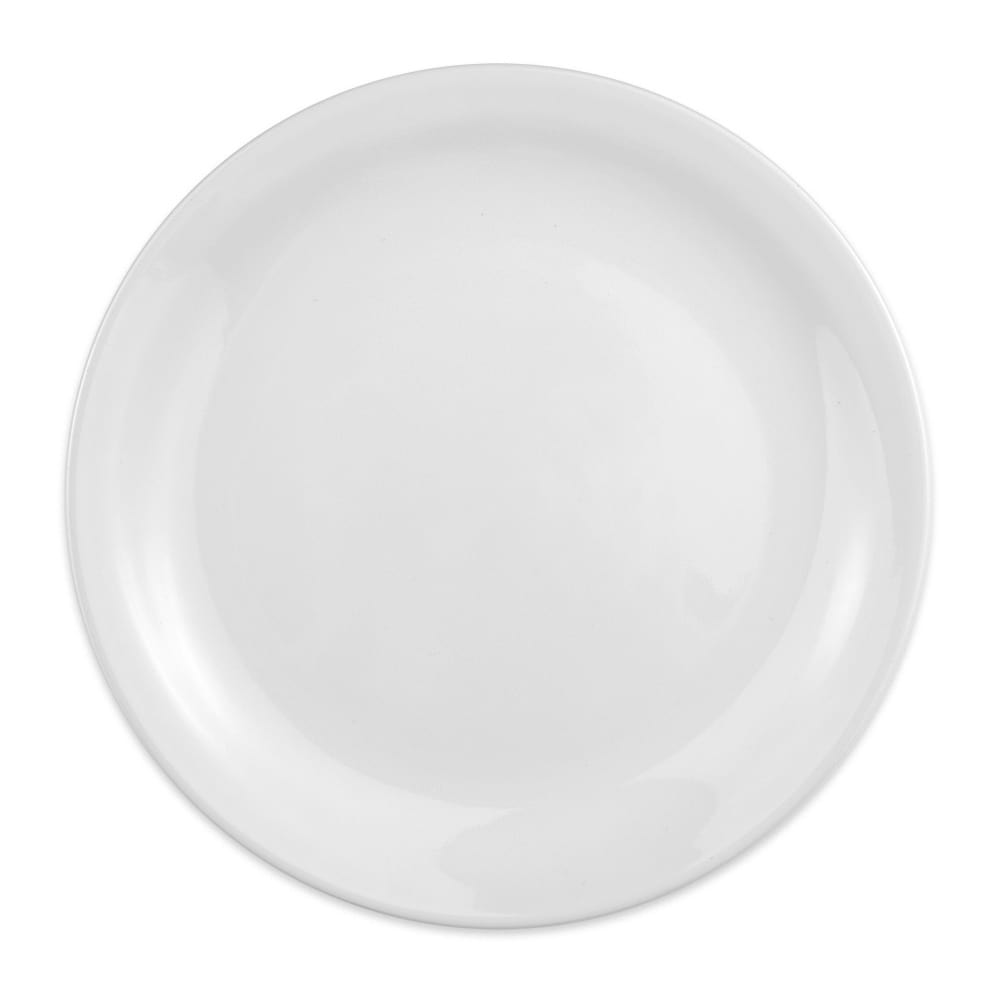 "Homer Laughlin 22410000 9"" Round Plate - China, Arctic White"
