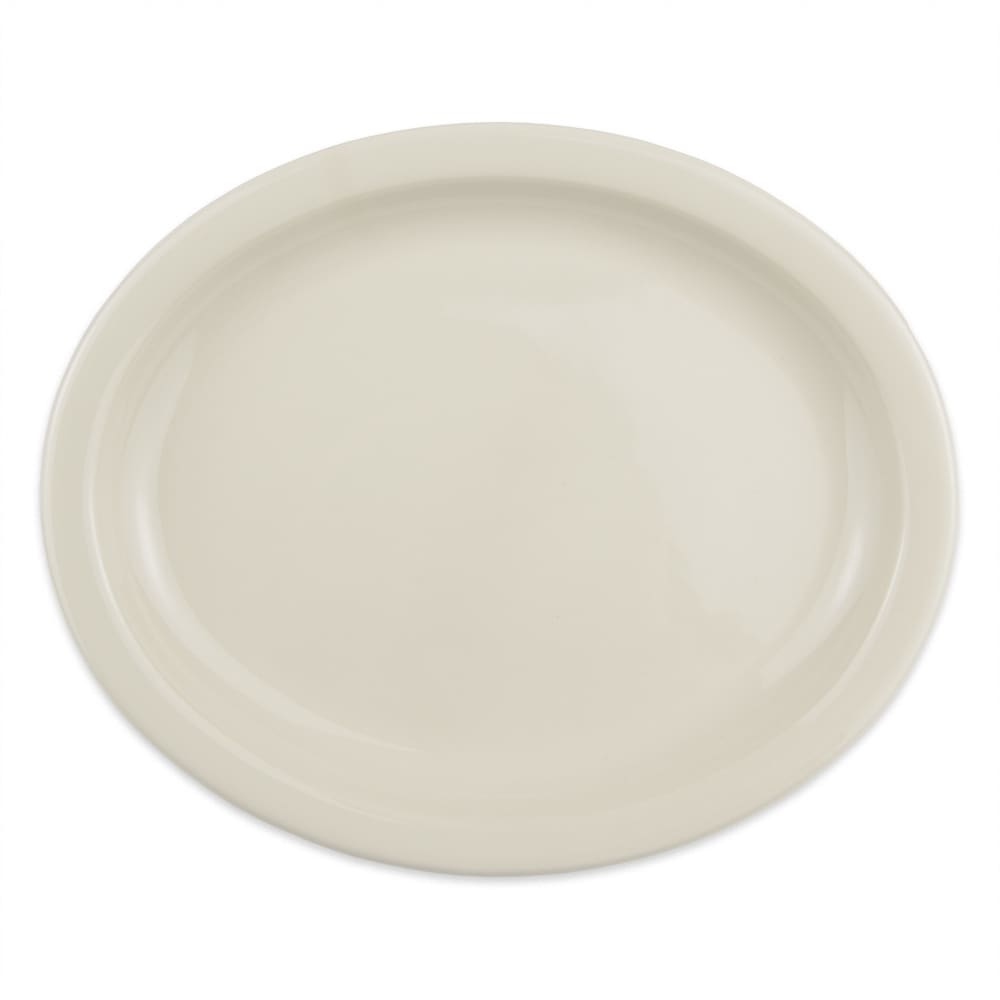 "Homer Laughlin 25900 9.75"" Oval Platter - China, Ivory"