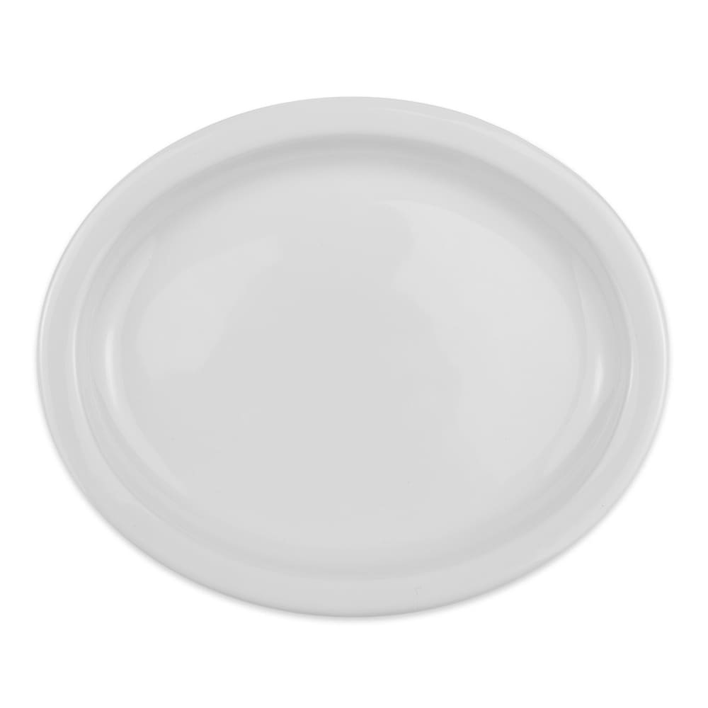 "Homer Laughlin 25910000 Oval Platter - 9.75"" x 6"", China, Arctic White"