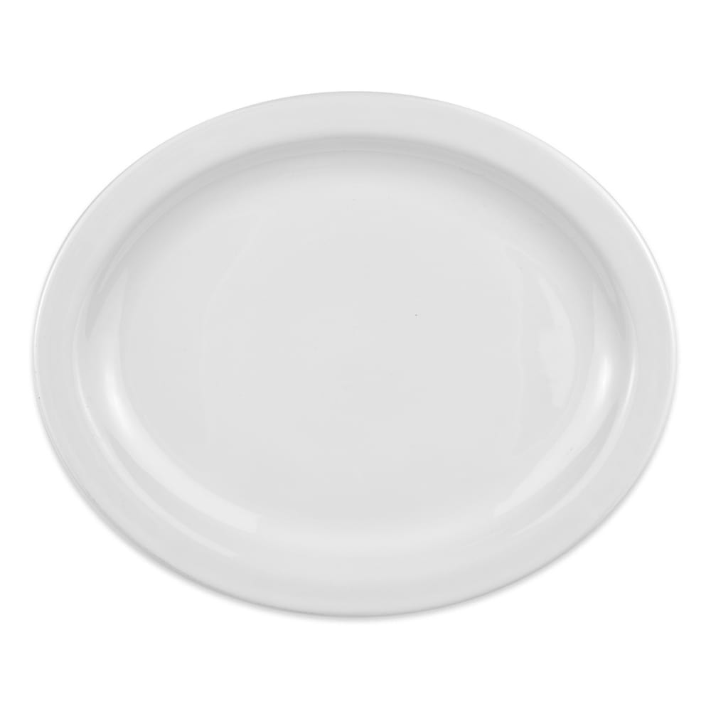 "Homer Laughlin 26110000 13.75"" Oval Platter - China, Arctic White"