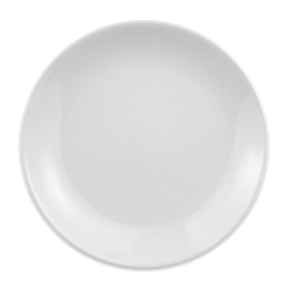 "Homer Laughlin 30710000 9"" Empire Round Plate - China, Arctic White"