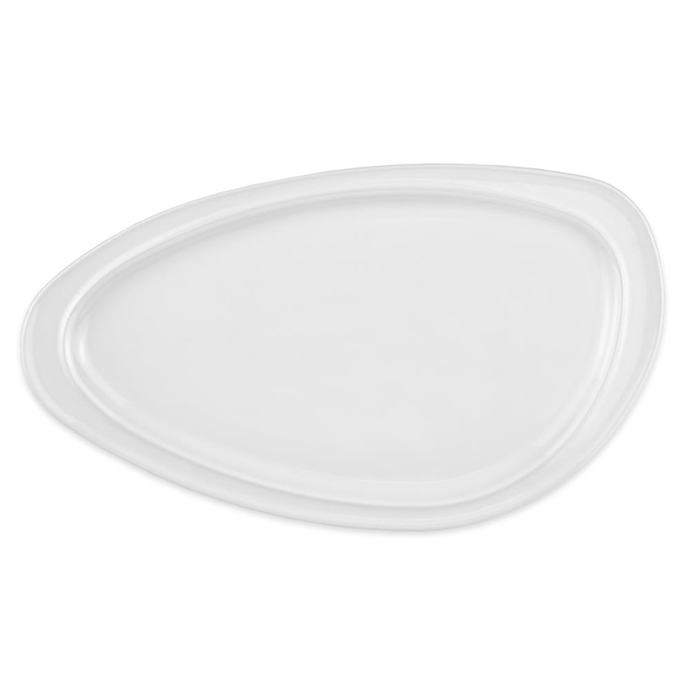 "Homer Laughlin 3104610000 Oval Platter - 5.38"" x 3.38"", China, Arctic White"
