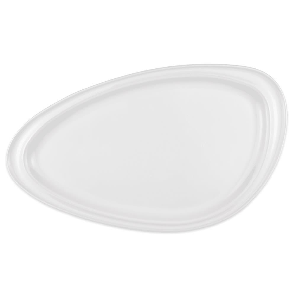 """Homer Laughlin 3104810000 Organic-Shaped Geo Platter - 12.18"""" x 8.25"""", China, Arctic White"""