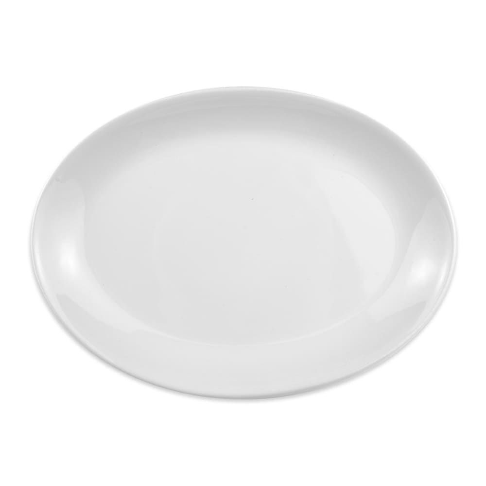 "Homer Laughlin 31210000 10.63"" Oval Empire Platter - China, Arctic White"