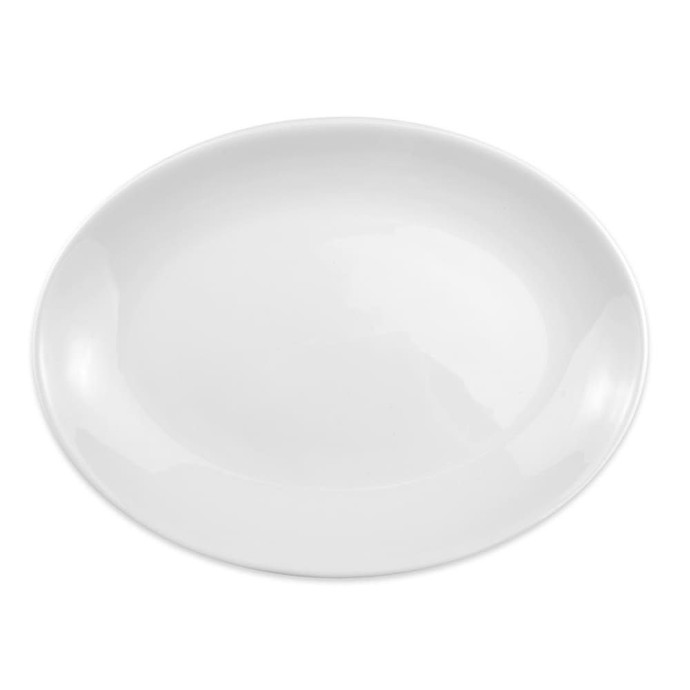 "Homer Laughlin 31310000 Oval Empire Platter - 11.5"" x 8"", China, Arctic White"