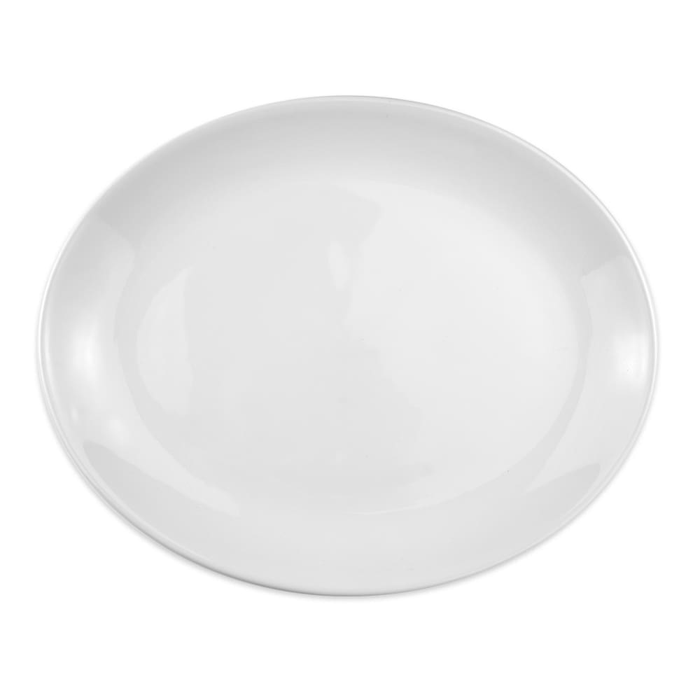 "Homer Laughlin 31510000 Oval Empire Platter - 10"" x 13.18"", China, Arctic White"