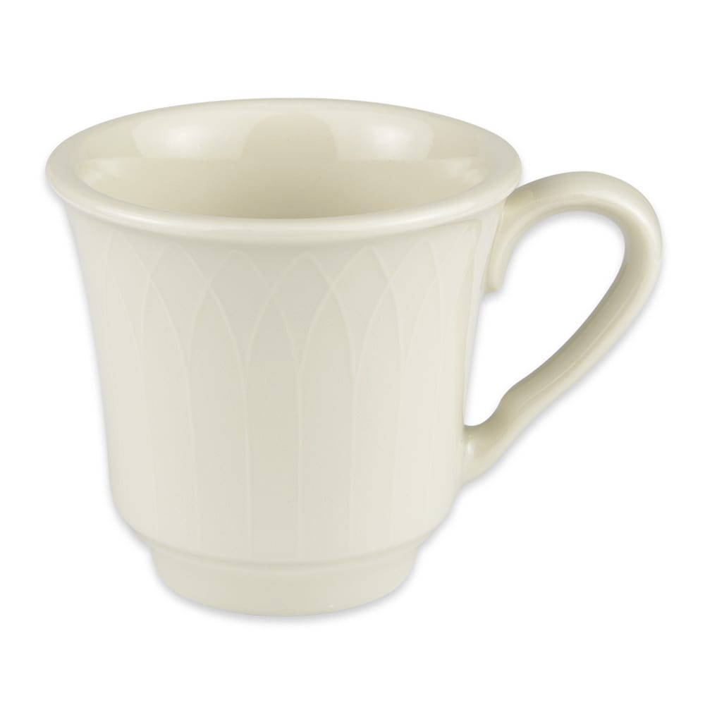 Homer Laughlin 3317000 7.5-oz Gothic Blanc Cup - China, Ivory