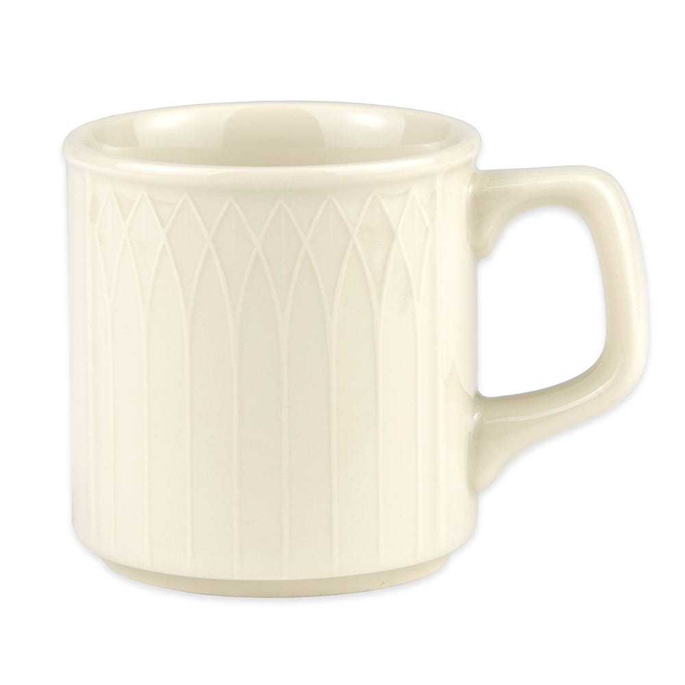 Homer Laughlin 3327000 8 oz Gothic Blanc Mug - China, Ivory