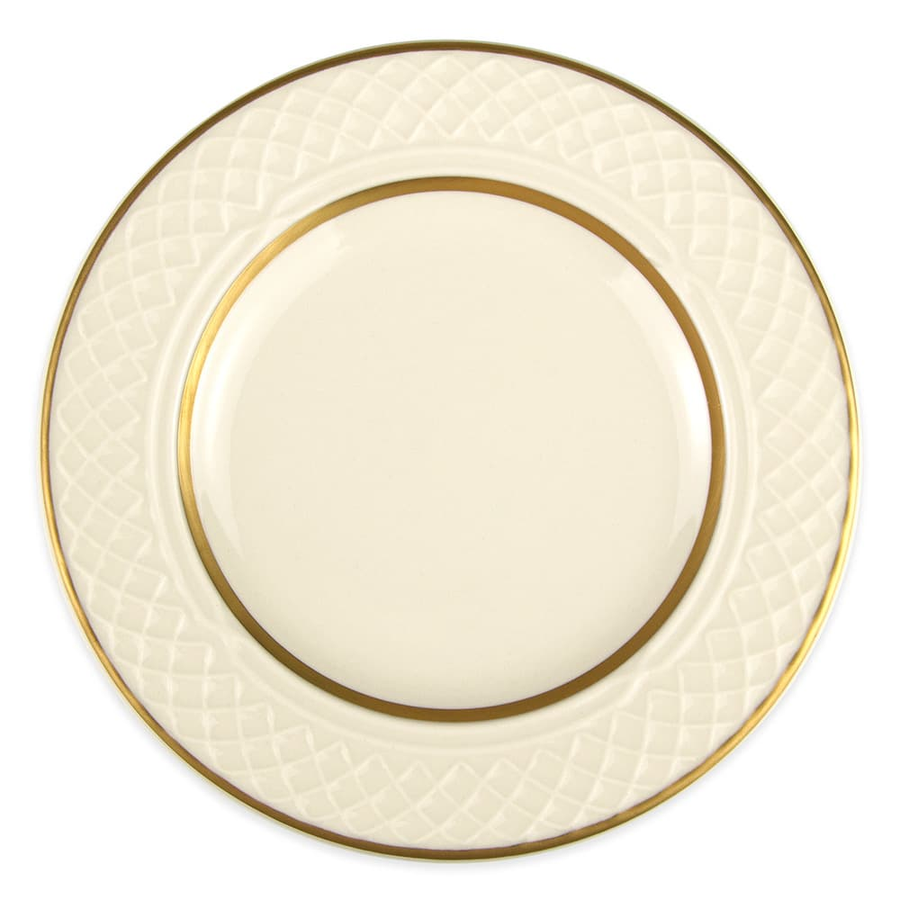 "Homer Laughlin 3341420 6.25"" Round Gothic Westminster Plate - China, Ivory"