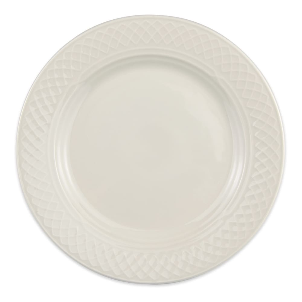 "Homer Laughlin 3367000 8.13"" Round Gothic Blanc Plate - China, Ivory"
