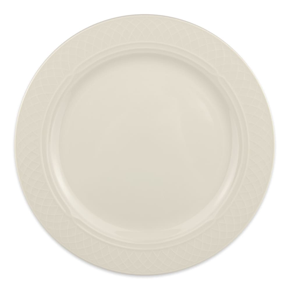 "Homer Laughlin 3397000 10-5/8"" Round Gothic Blanc Plate - China, Ivory"
