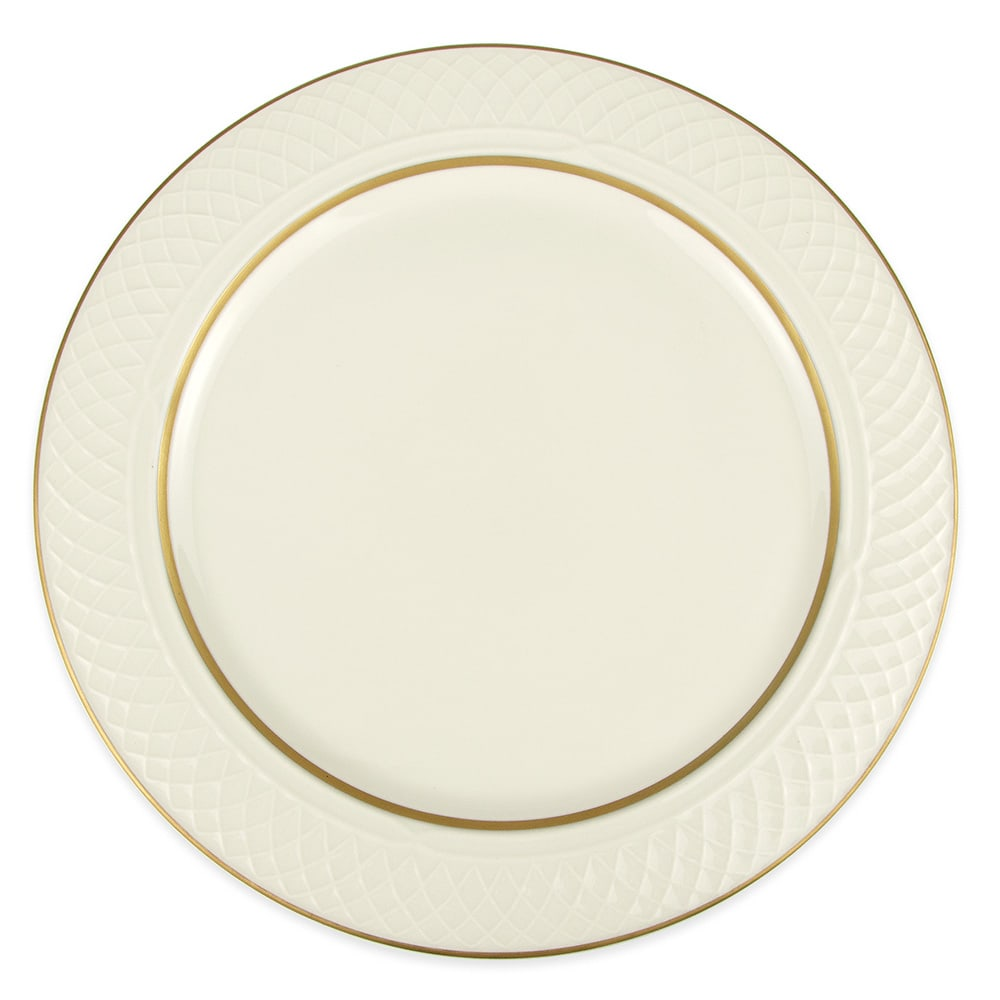 "Homer Laughlin 3401420 11.13"" Round Gothic Westminster Plate - China, Ivory"