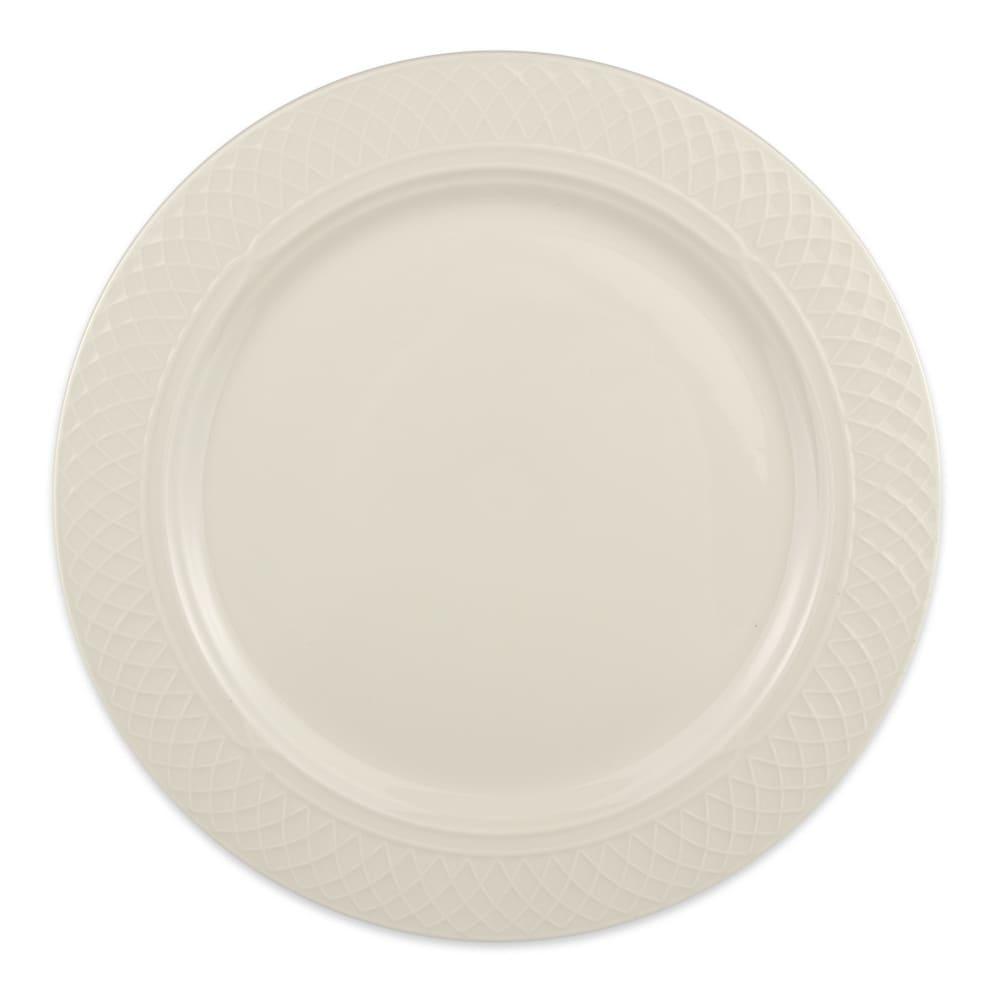 "Homer Laughlin 3407000 11.13"" Round Gothic Blanc Plate - China, Ivory"