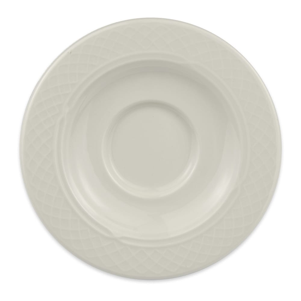 "Homer Laughlin 3557000 5.63"" Gothic Blanc Saucer - China, Ivory"