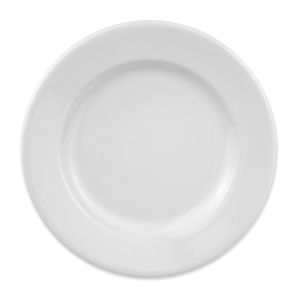 "Homer Laughlin 40310000 5.5"" Round Durathin Plate - China, Arctic White"