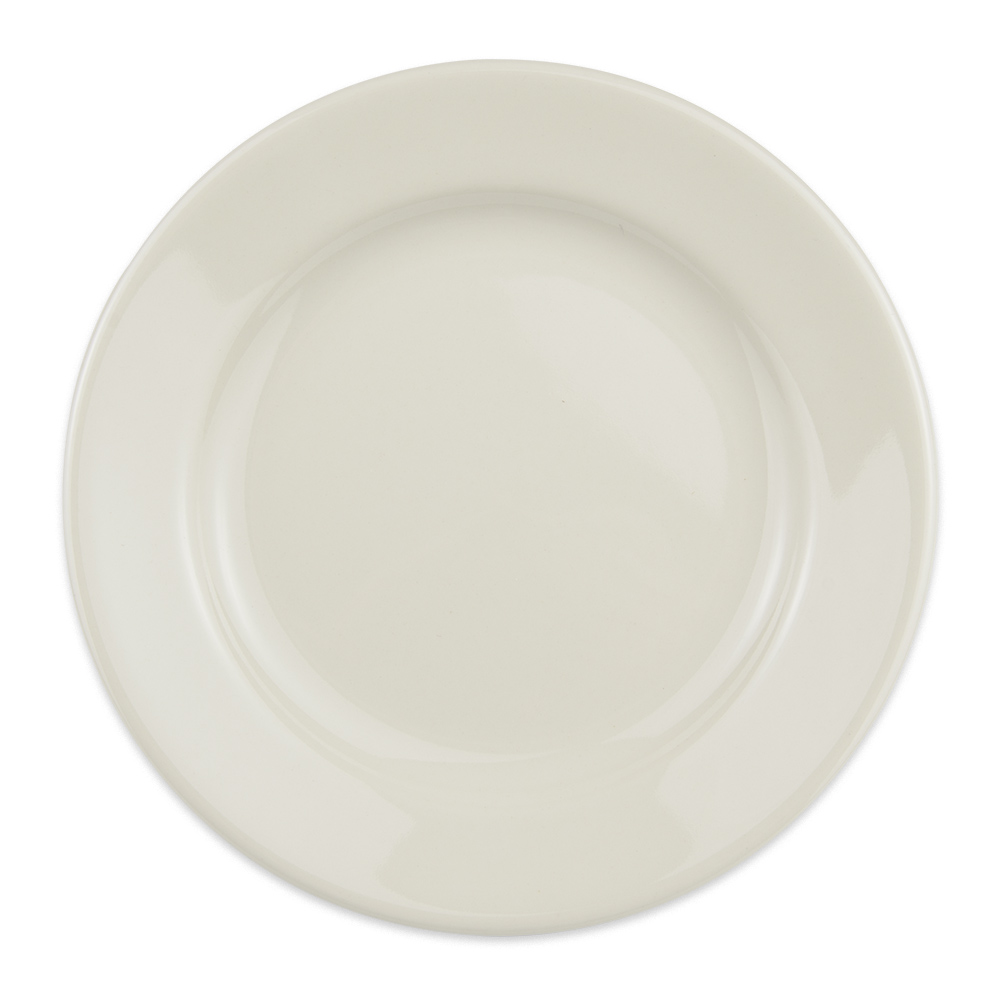 "Homer Laughlin 40500 7"" Round Durathin Plate - China, Ivory"