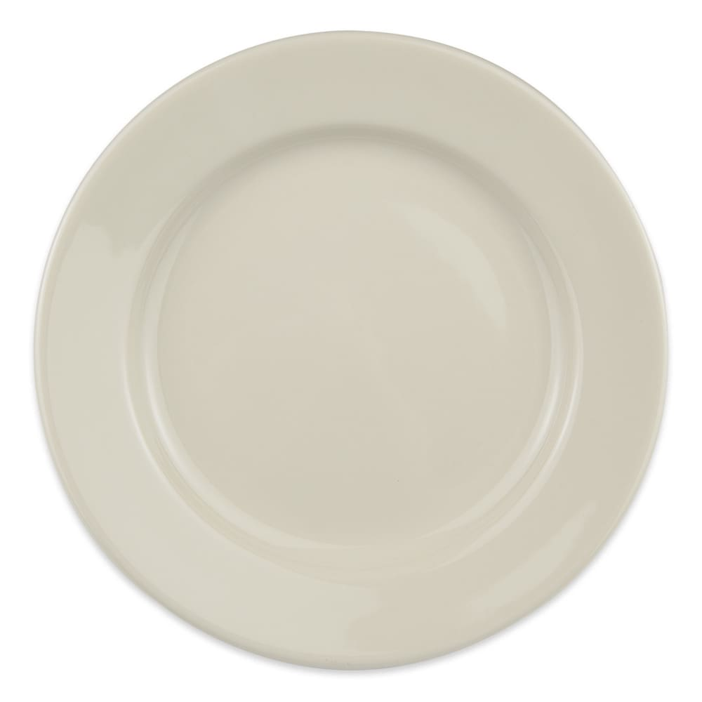 "Homer Laughlin 40700 9"" Round Durathin Plate - China, Ivory"