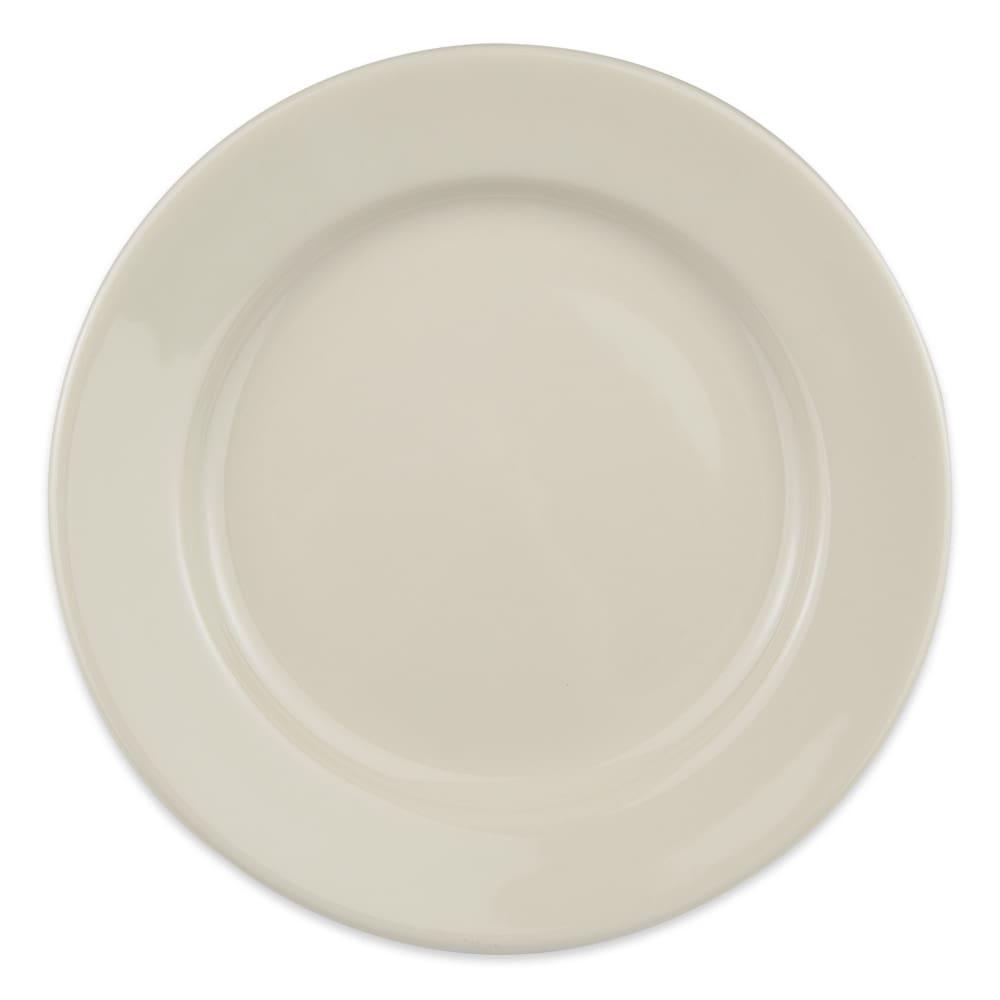 "Homer Laughlin 40700 9"" Round Durathin Plate - China, Ivory"