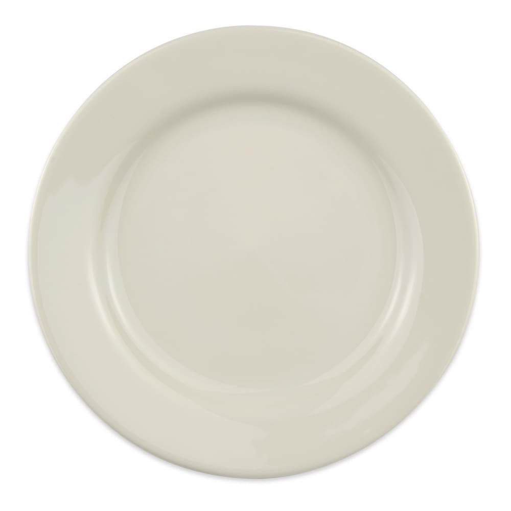 "Homer Laughlin 40800 10"" Round Durathin Plate - China, Ivory"