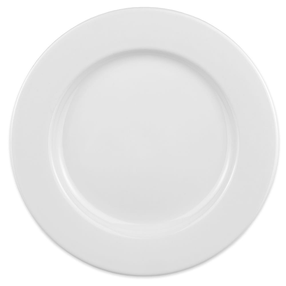 "Homer Laughlin 41010000 11.13"" Round Durathin Plate - China, Arctic White"