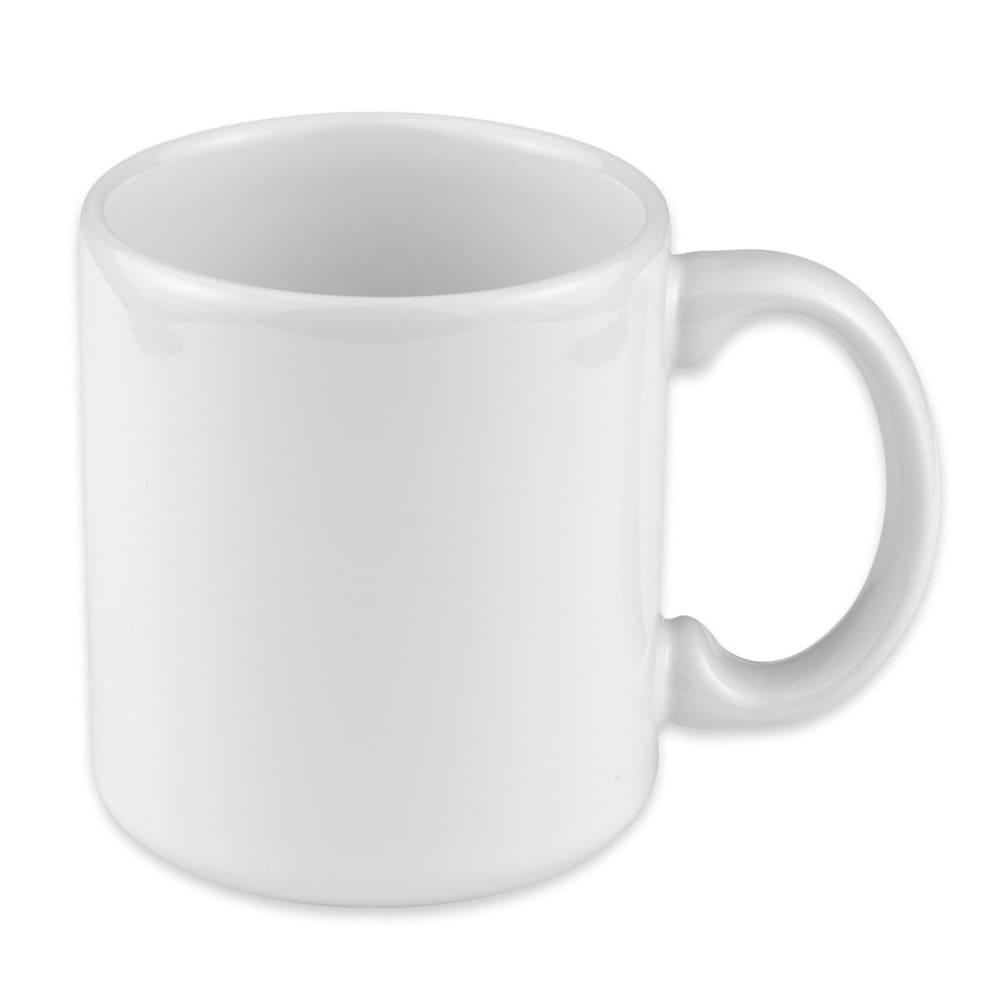 Homer Laughlin 45410000 9 oz Shakespeare Mug - China, Arctic White
