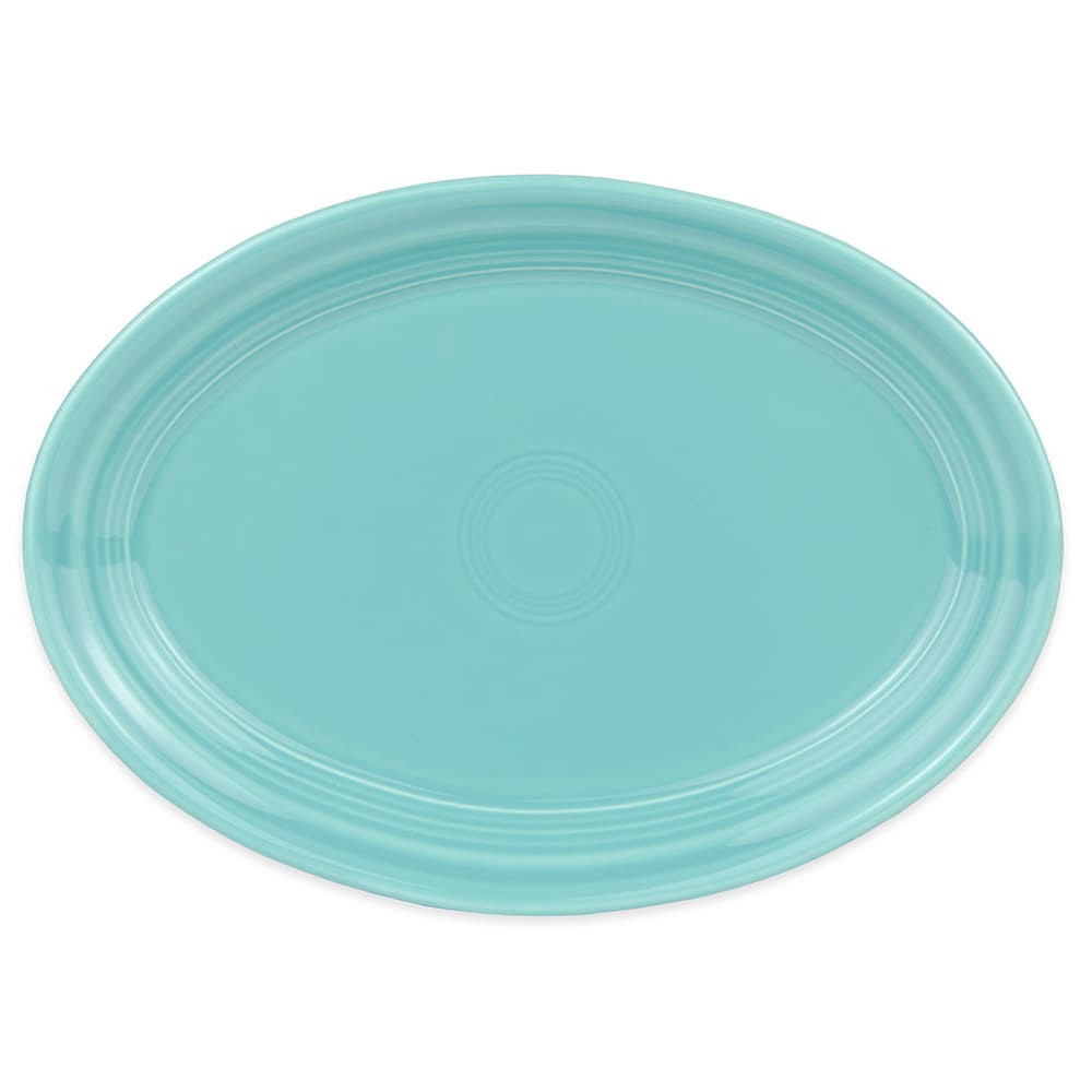 "Homer Laughlin 456107 9.63"" Oval Fiesta Platter - China, Turquoise"