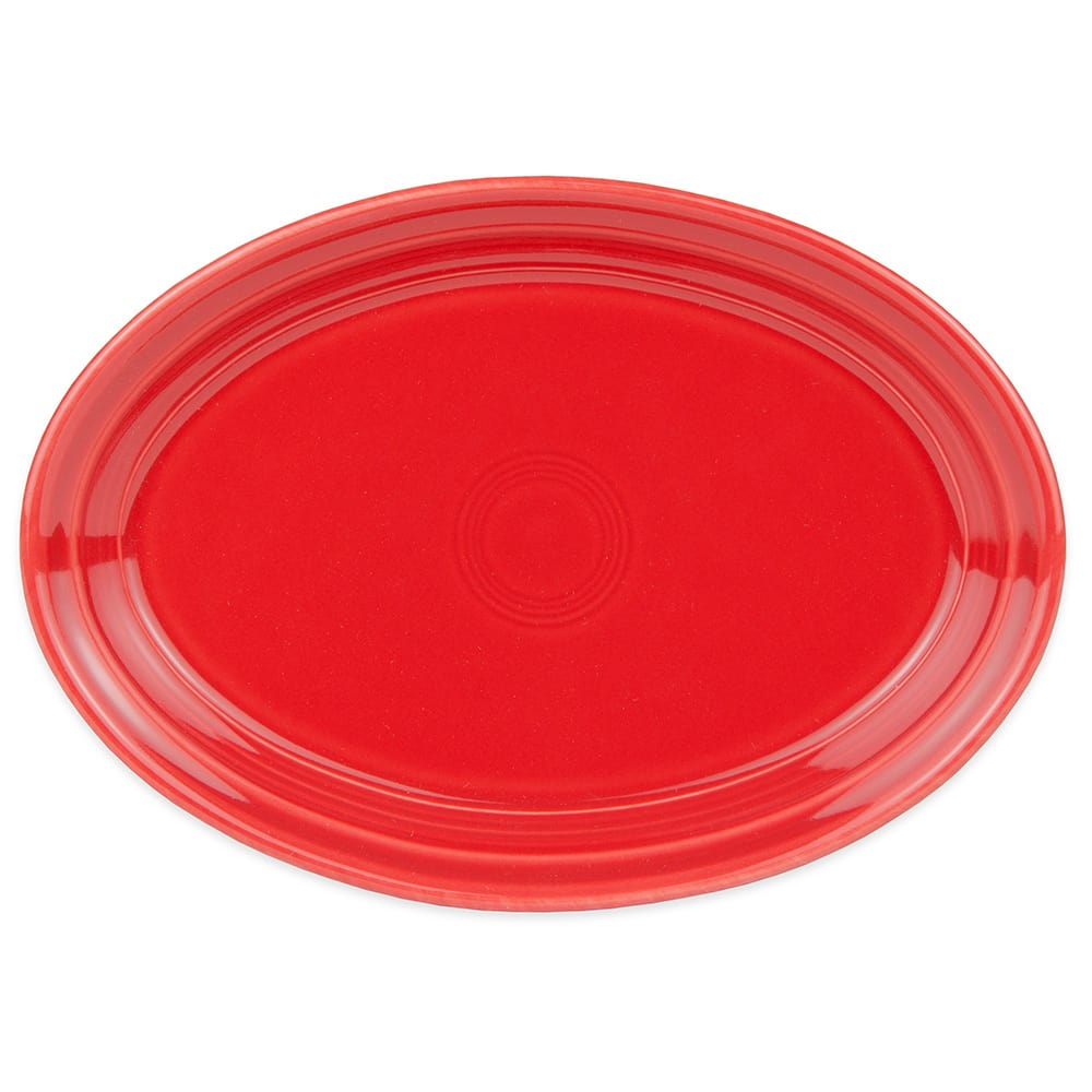 "Homer Laughlin 456326 9.63"" Oval Fiesta Platter - China, Scarlet"