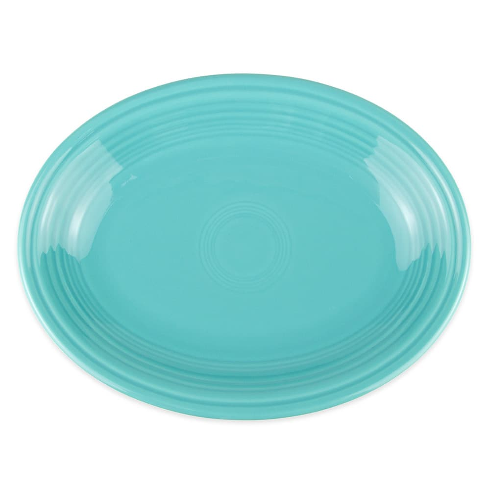 "Homer Laughlin 457107 11.63"" Oval Fiesta Platter - China, Turquoise"