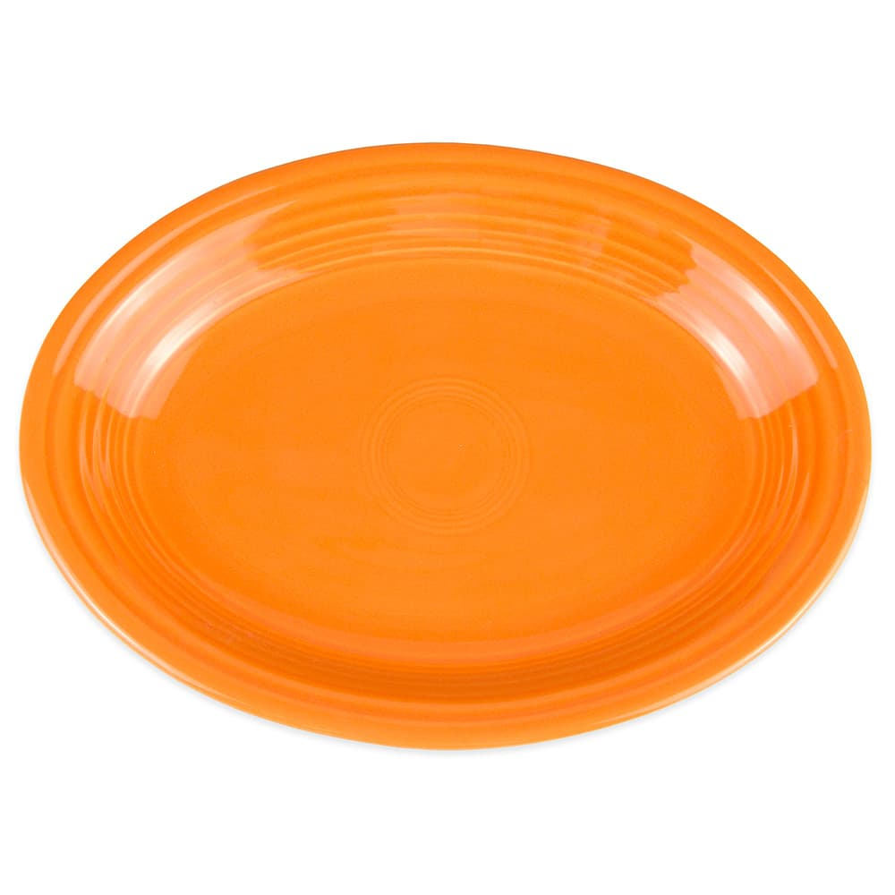 "Homer Laughlin 457325 11.63"" Oval Fiesta Platter - China, Tangerine"