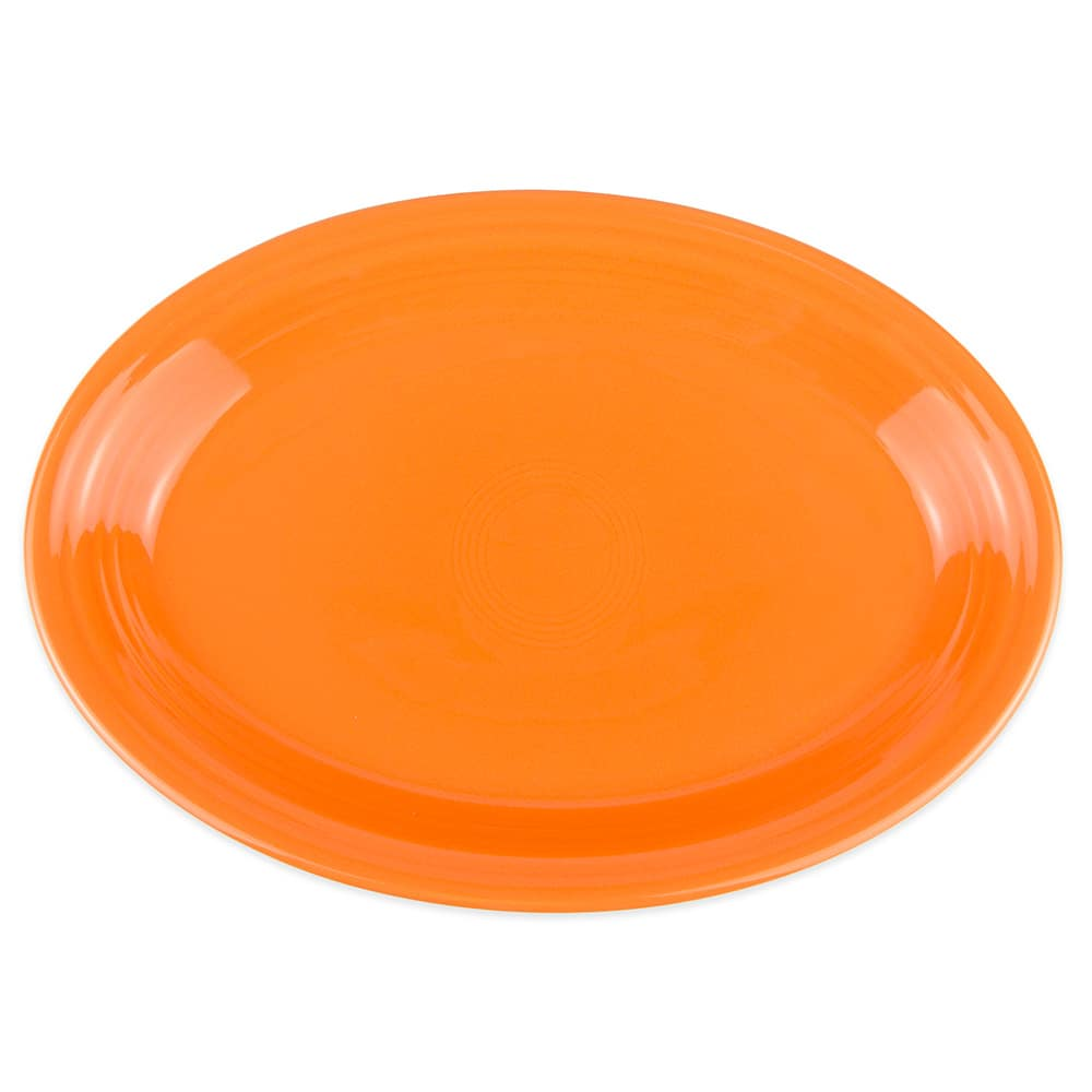"Homer Laughlin 458325 13.63"" Oval Fiesta Platter - China, Tangerine"