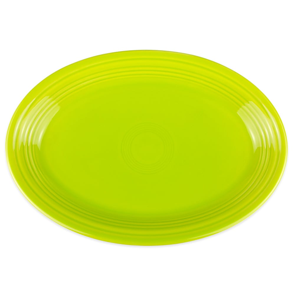 "Homer Laughlin 458332 13.63"" Oval Fiesta Platter - China, Lemongrass"