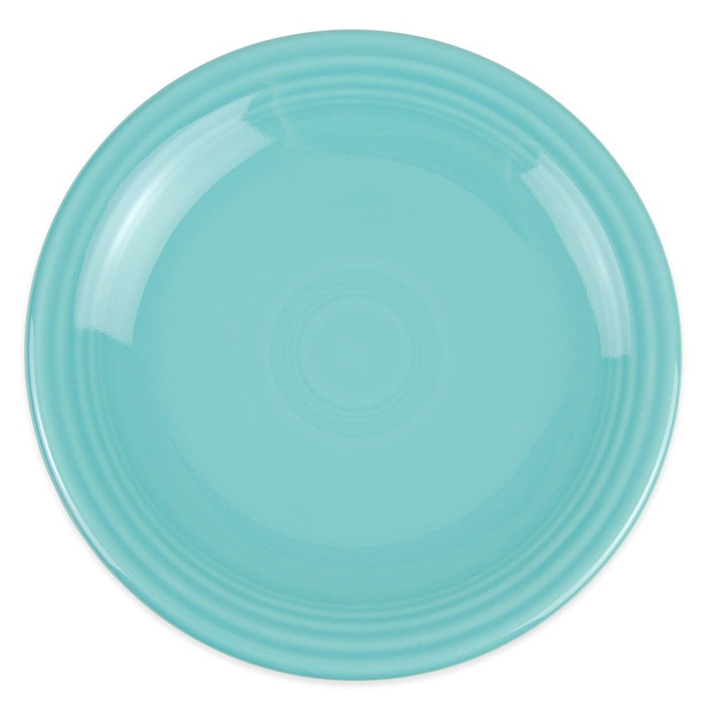 "Homer Laughlin 463107 6.13"" Round Fiesta Plate - China, Turquoise"