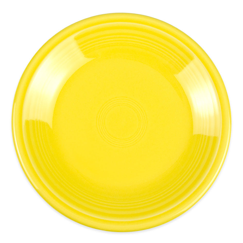 "Homer Laughlin 463320 6.13"" Round Fiesta Plate - China, Sunflower"
