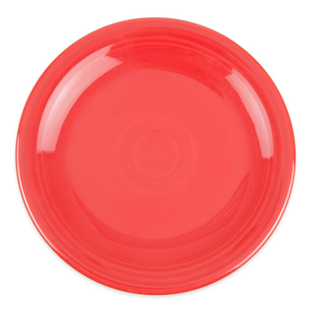 "Homer Laughlin 463326 6.13"" Round Fiesta Plate - China, Scarlet"