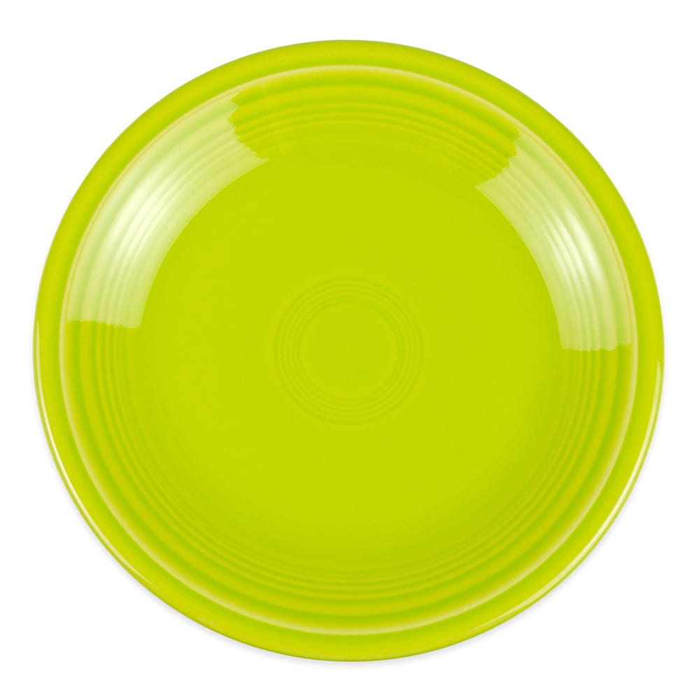 "Homer Laughlin 464332 7.25"" Round Fiesta Plate - China, Lemongrass"