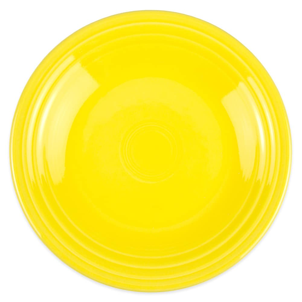 "Homer Laughlin 465320 9"" Round Fiesta Plate - China, Sunflower"