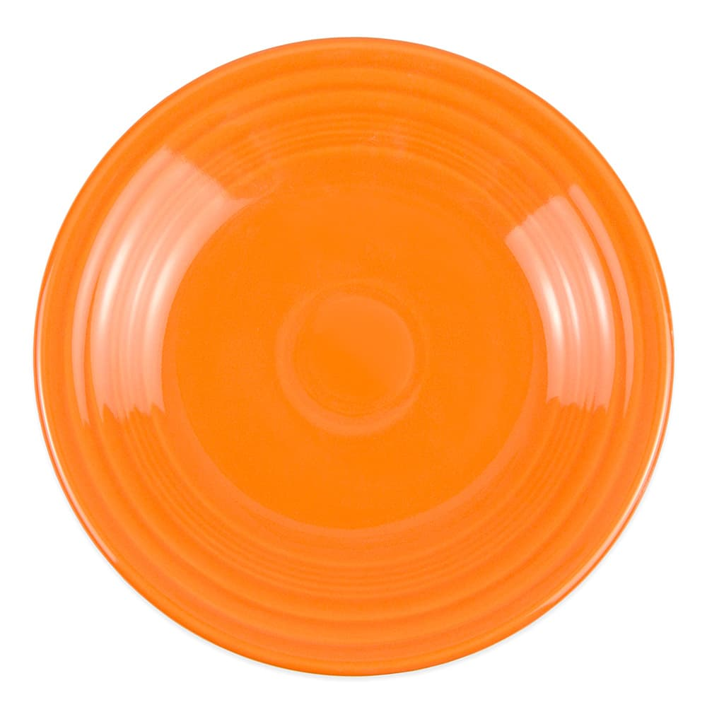 "Homer Laughlin 465325 9"" Round Fiesta Plate - China, Tangerine"