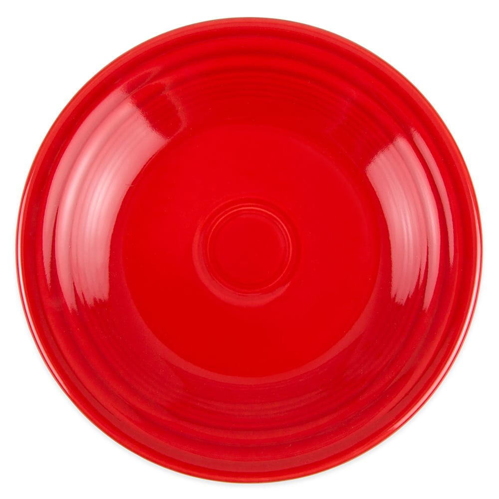 "Homer Laughlin 465326 9"" Round Fiesta Plate - China, Scarlet"