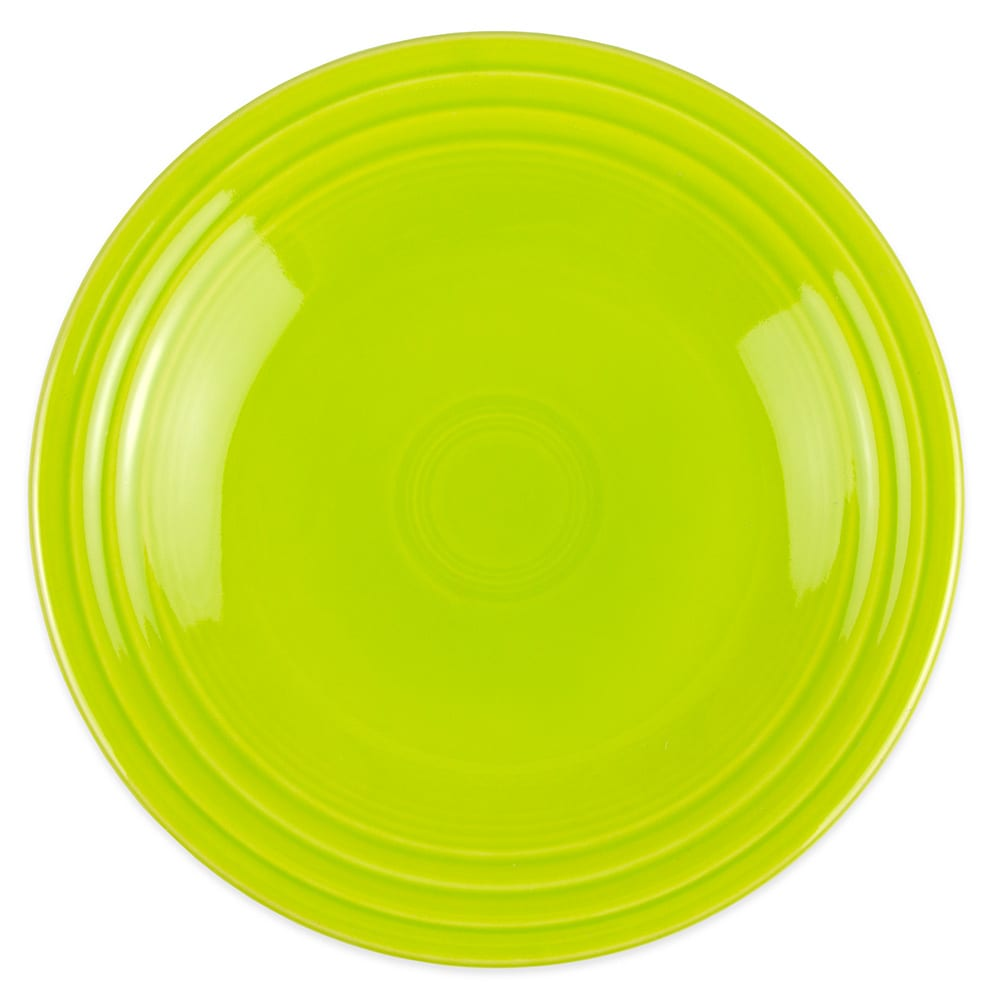 "Homer Laughlin 465332 9"" Round Fiesta Plate - China, Lemongrass"