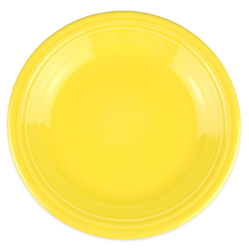 "Homer Laughlin 466320 10.5"" Round Fiesta Plate - China, Sunflower"