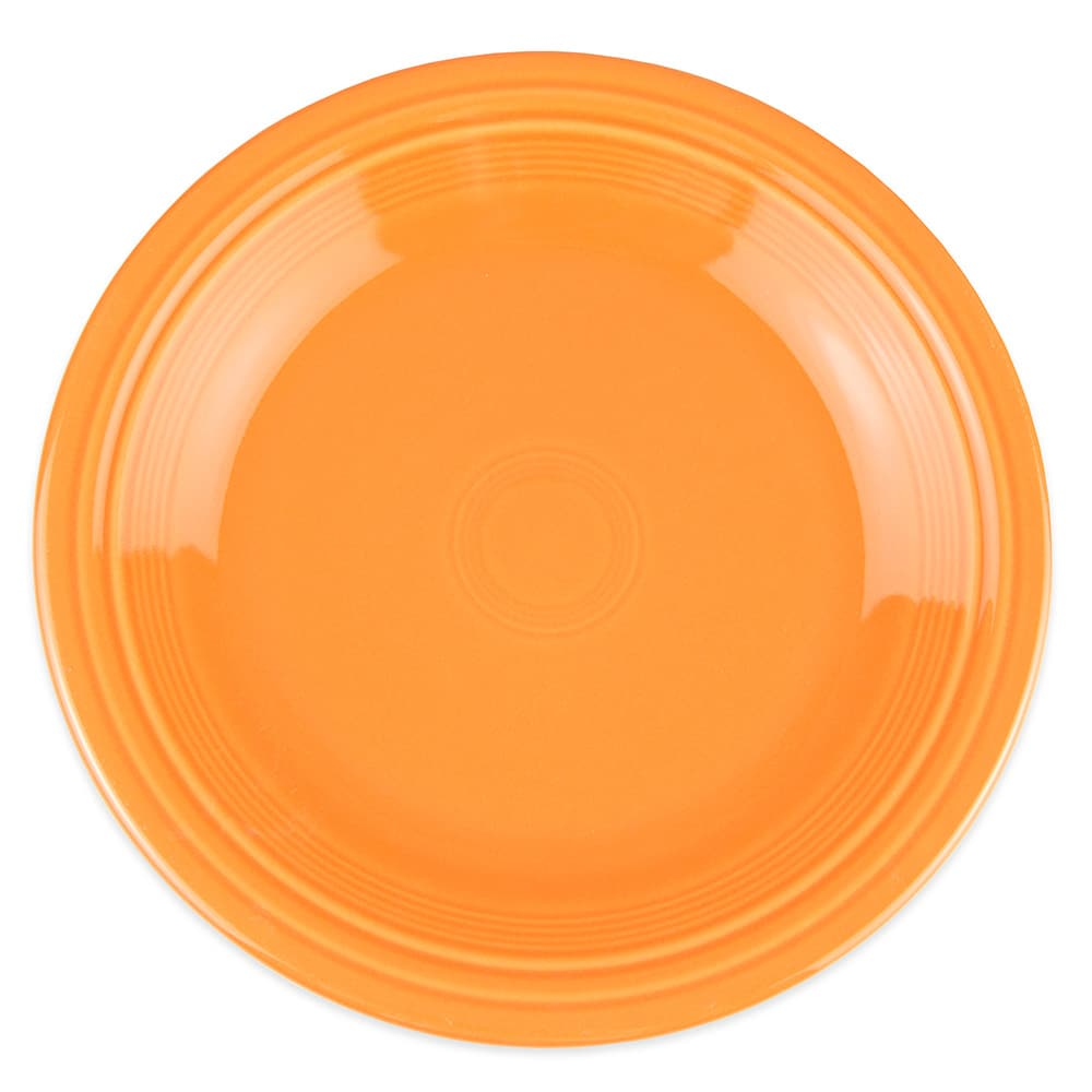 "Homer Laughlin 466325 10.5"" Round Fiesta Plate - China, Tangerine"
