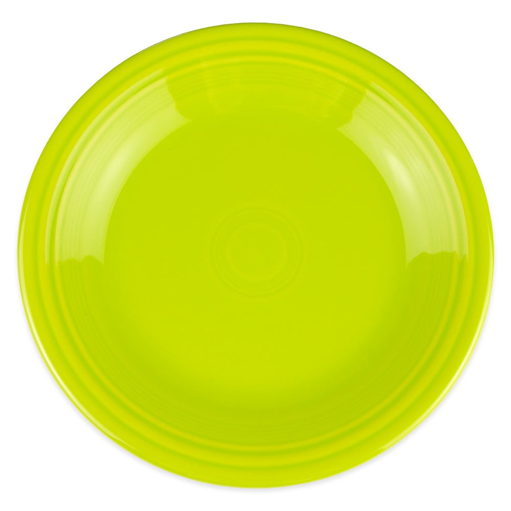 "Homer Laughlin 466332 10.5"" Round Fiesta Plate - China, Lemongrass"