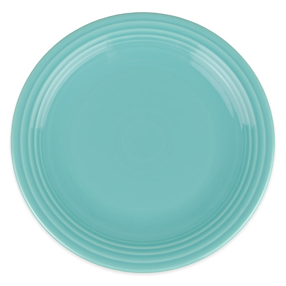 "Homer Laughlin 467107 11.75"" Round Fiesta Plate - China, Turquoise"