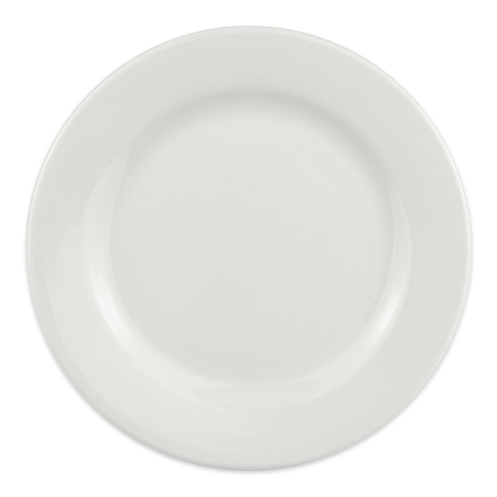 "Homer Laughlin 6346000 6.38"" Round Pristine Plate - China, Ameriwhite"