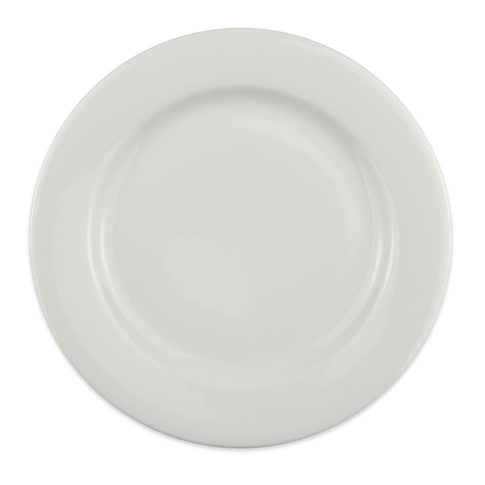 "Homer Laughlin 6376000 9"" Round Pristine Plate - China, Ameriwhite"