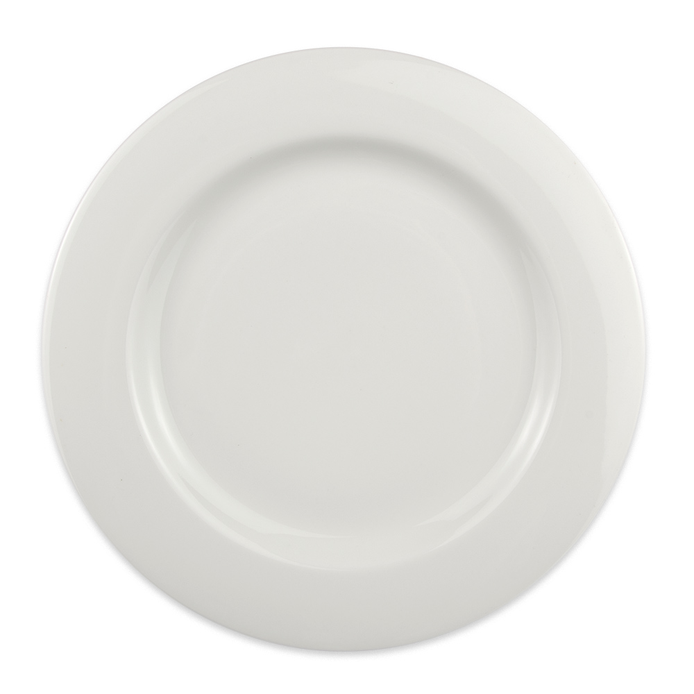 "Homer Laughlin 6406000 11-1/8"" Round Pristine Plate - China, Ameriwhite"