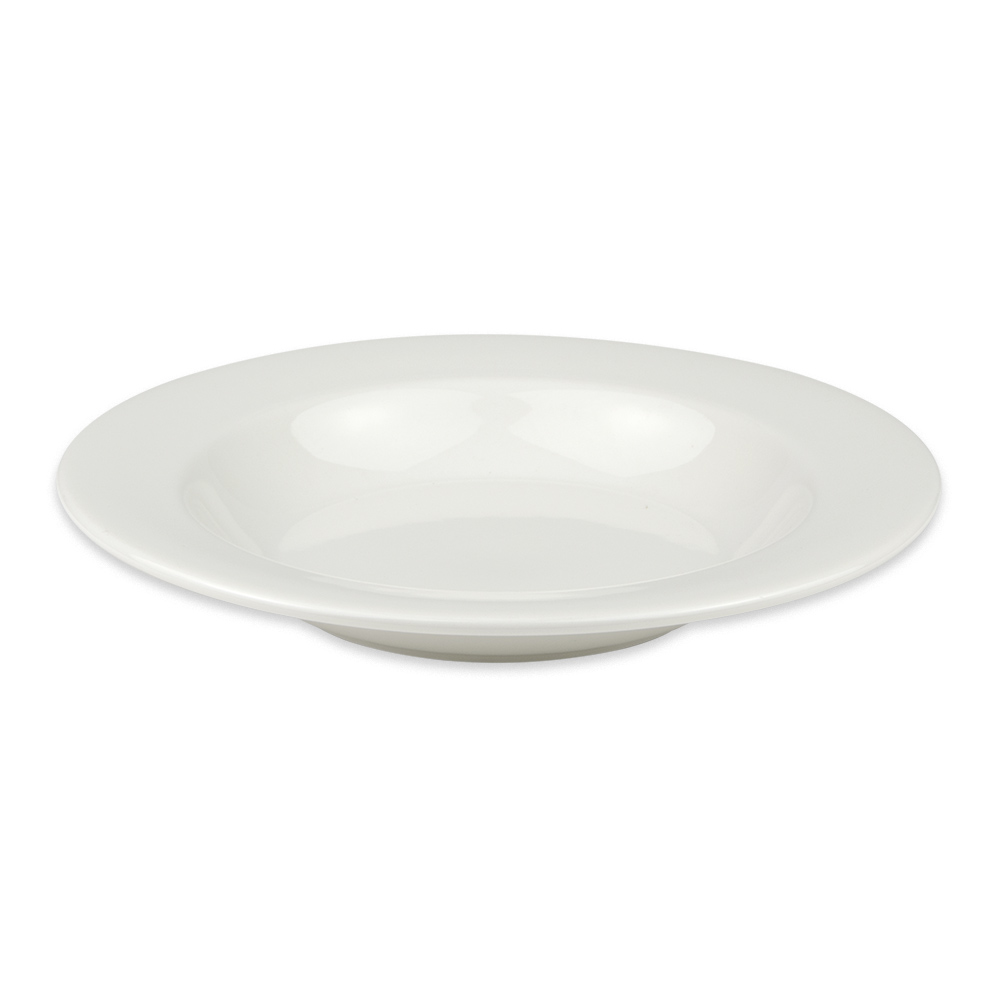 Homer Laughlin 6456000 12 oz Pristine Rim Soup Bowl - China, Ameriwhite