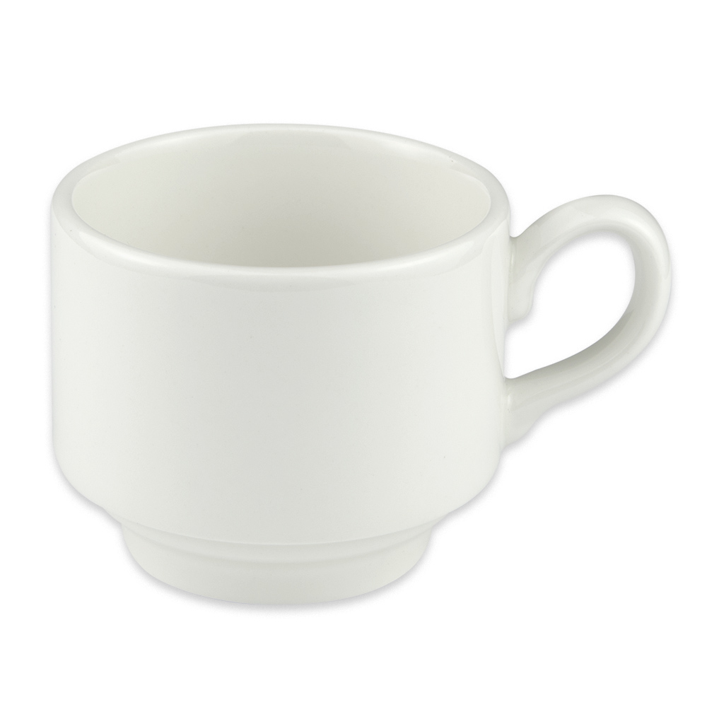 Homer Laughlin 6536000 7-oz Pristine Stackable Tea Cup - China, Ameriwhite