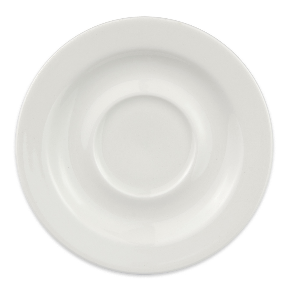 "Homer Laughlin 6556000 5.75"" Pristine Saucer - China, Ameriwhite"