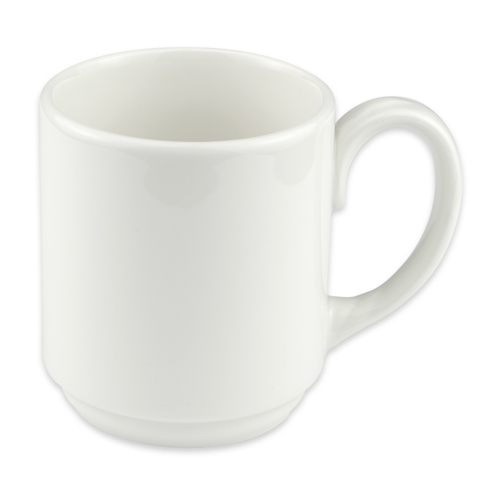 Homer Laughlin 6716000 9 oz Pristine Mug - China, Ameriwhite